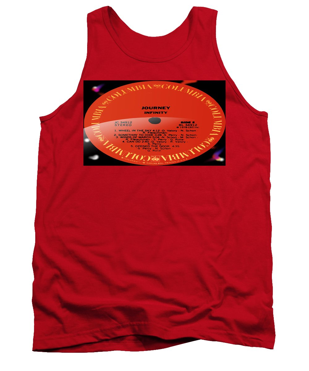 Record Tank Top featuring the photograph Journey - Infinity Side 2 by Marcello Cicchini