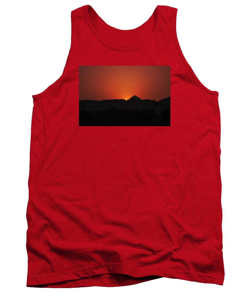 Sunset Tank Top featuring the digital art Just Before The Sunset by Bliss Of Art