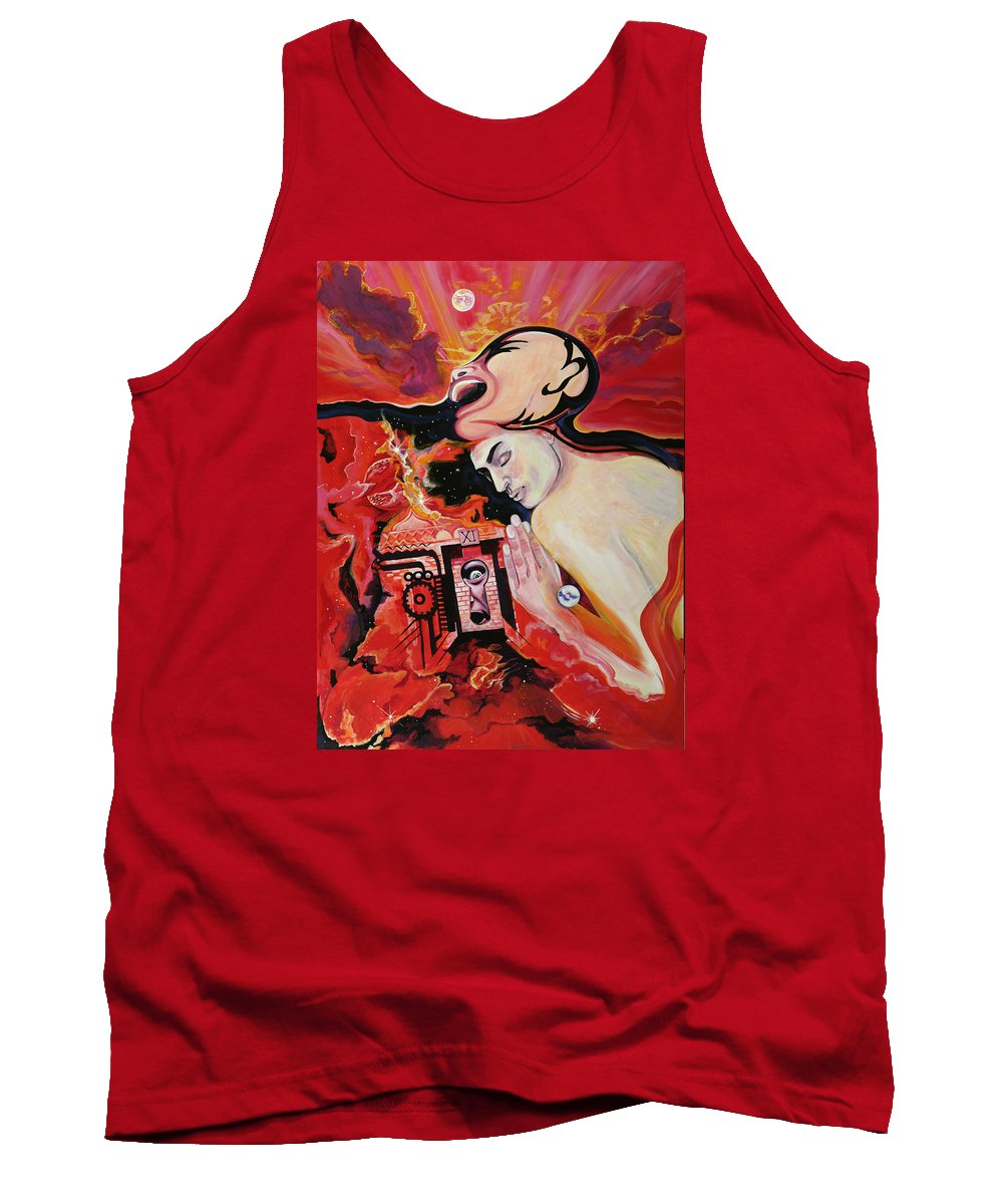 Passion Tank Top featuring the painting Keyhole by Yelena Tylkina