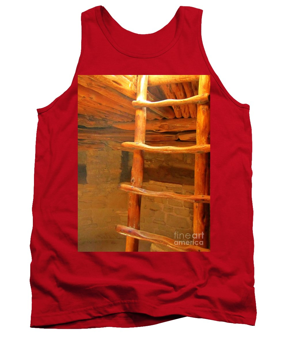 Pueblo Indians Tank Top featuring the photograph Kiva Ladder by John Malone