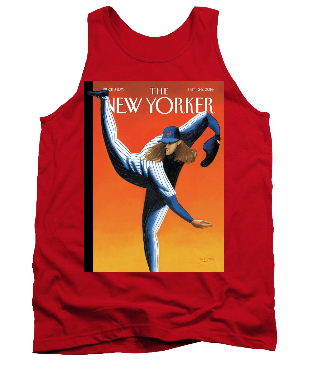 Mets Tank Top featuring the painting Late Innings by Mark Ulriksen