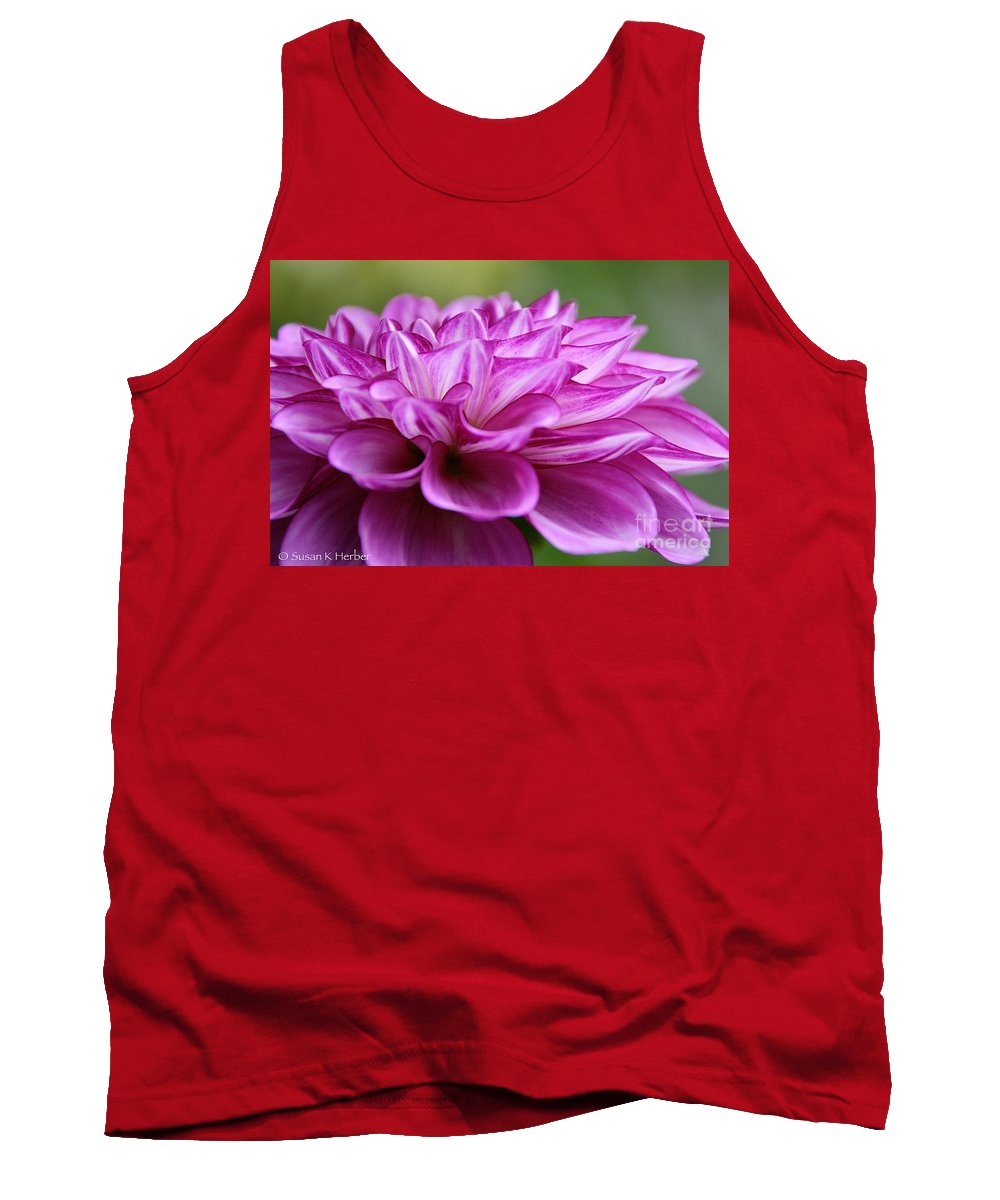 Flower Tank Top featuring the photograph Layered by Susan Herber