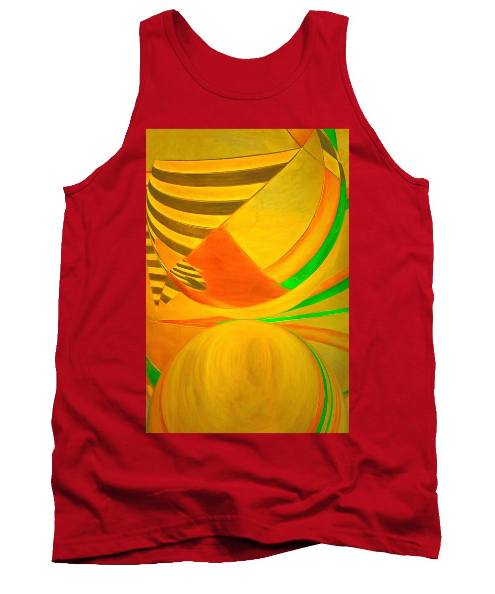 Let's Get The Ball Rolling Tank Top featuring the painting Let's Get The Ball Rolling by L Wright
