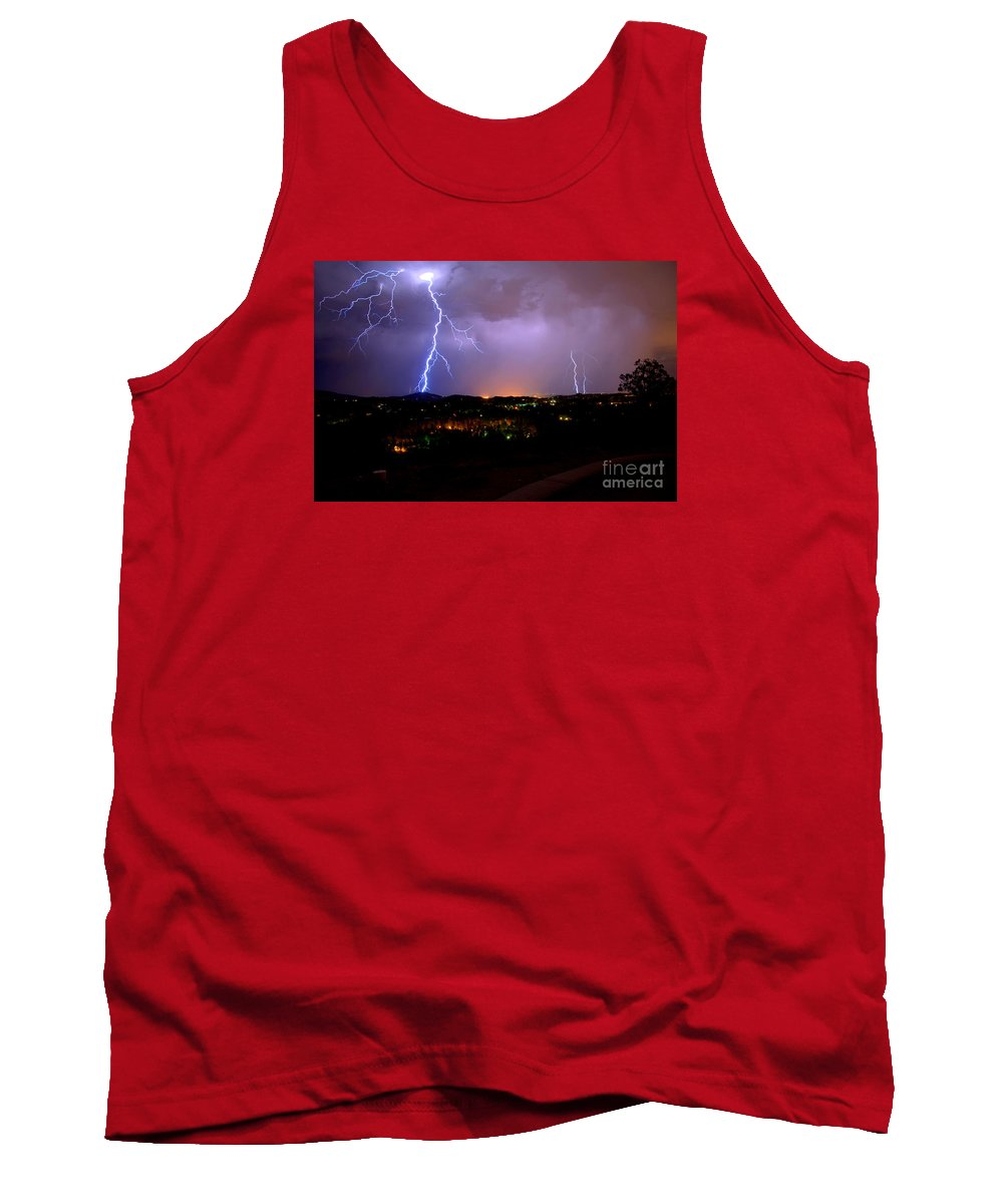 Diana Graves Tank Top featuring the photograph Lightning Storm by K D Graves