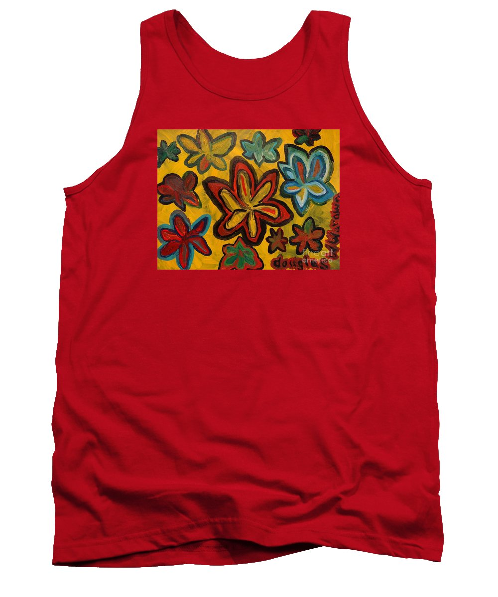 Artwork Tank Top featuring the painting Lillies In Space by Douglas W Warawa