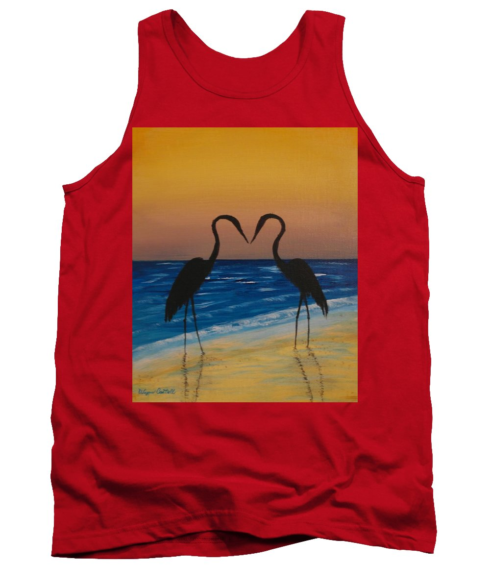 Beach Tank Top featuring the painting Love Birds by Wayne Cantrell