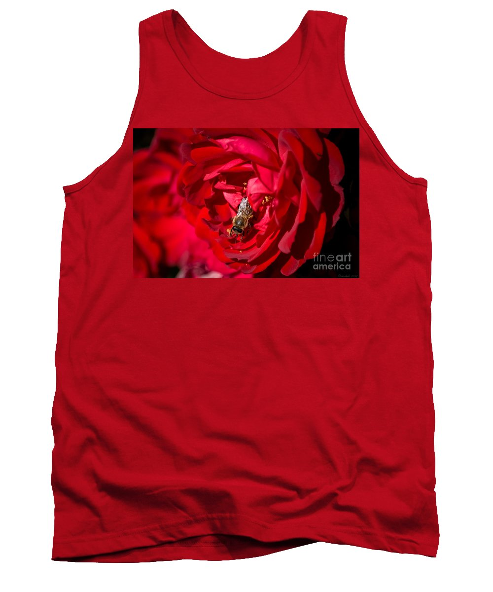 Flower Tank Top featuring the photograph Lovely Place To Work by M Dale