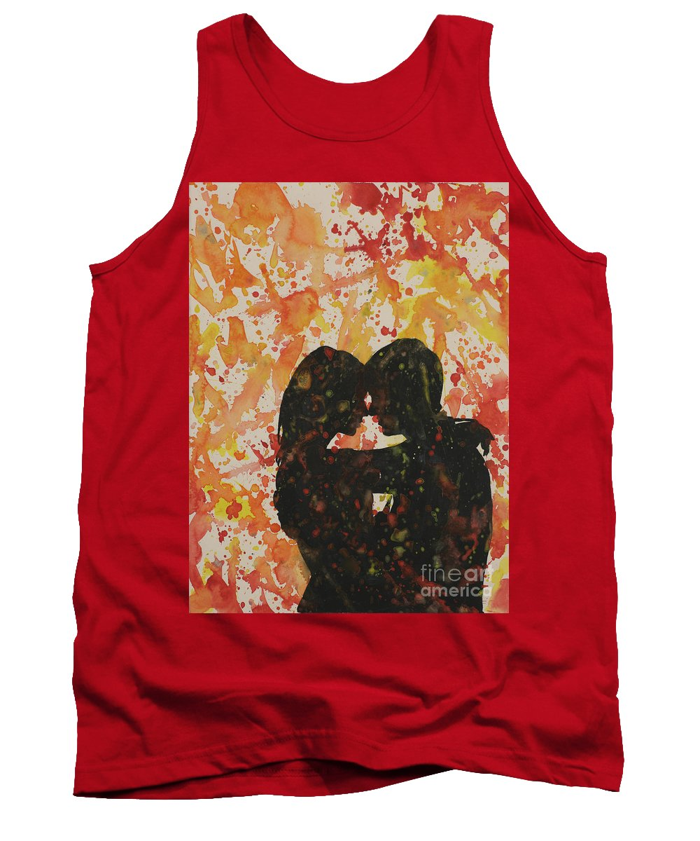 Art Prints Tank Top featuring the painting Loves A Mess by Ryan Fox