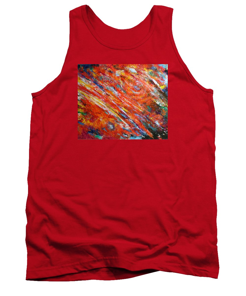Abstract Tank Top featuring the painting Loves Fire by Michael Durst
