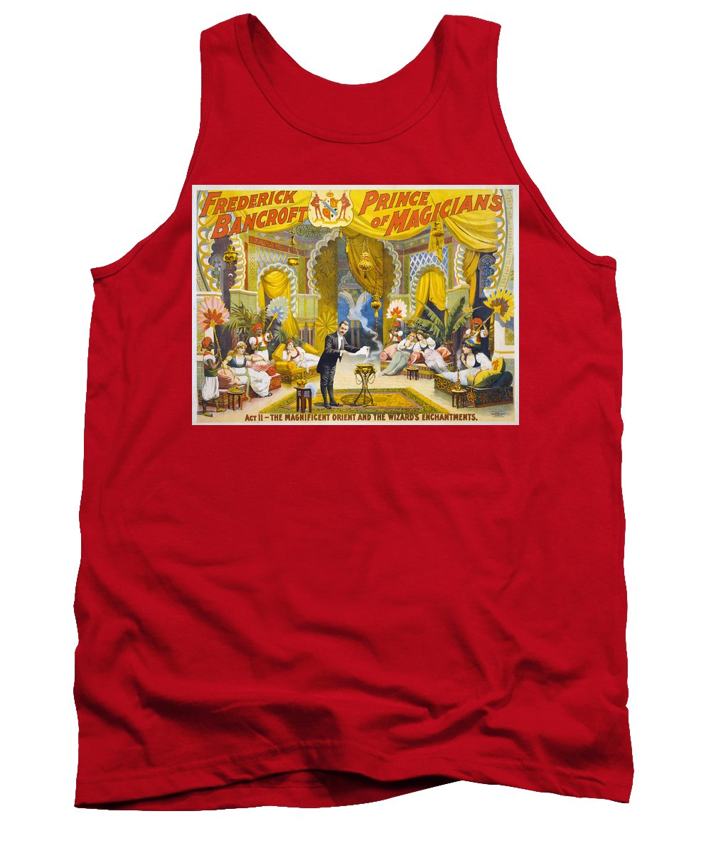 1895 Tank Top featuring the painting Magician Poster, C1895 by Granger