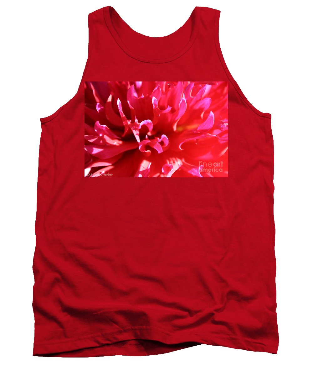 Flower Tank Top featuring the photograph Magnificent Magenta by Susan Herber