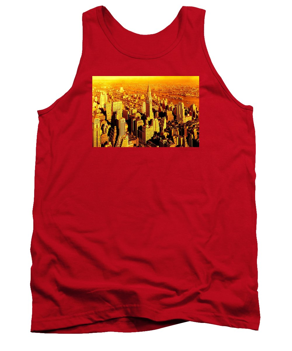 Fine Art America Tank Top featuring the photograph Manhattan And Chrysler Building by Monique's Fine Art