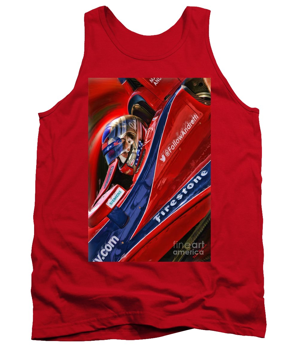 Tank Top featuring the photograph Marco Andretti Focused by Blake Richards