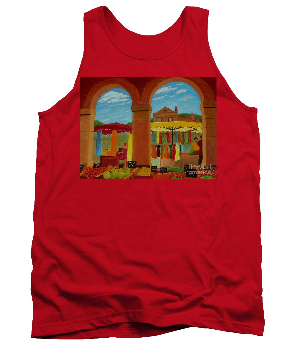 Landscape Tank Top featuring the painting Market Day by Anthony Dunphy