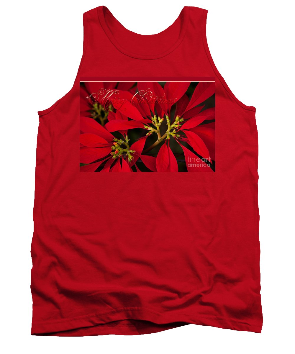 Aloha Tank Top featuring the photograph Merry Christmas - Poinsettia - Euphorbia Pulcherrima by Sharon Mau