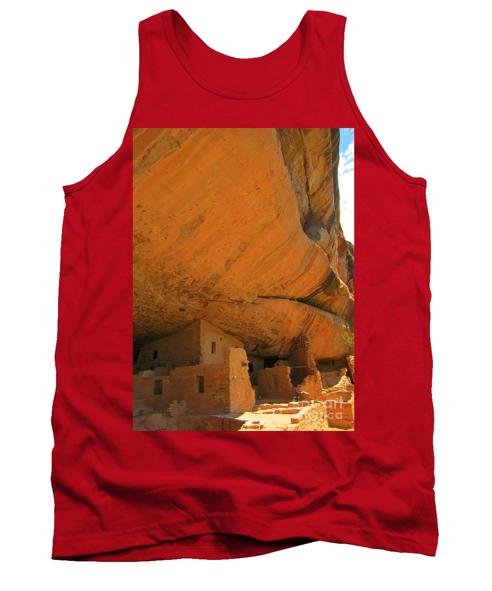 Pueblo Indians Tank Top featuring the photograph Mesa Verde Cliff Dwellings by John Malone