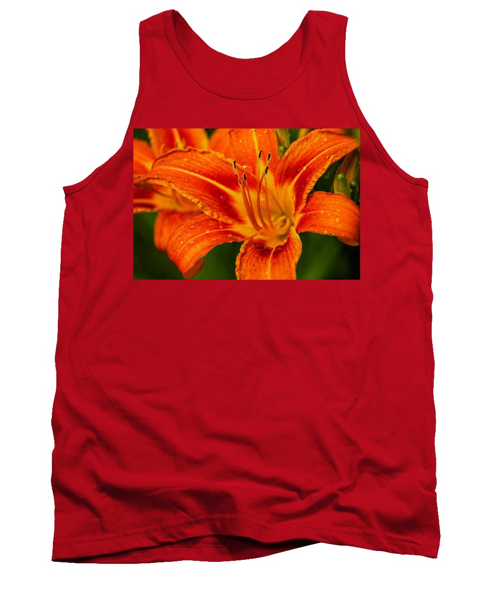 Day Lily Tank Top featuring the photograph Morning Dew by Dave Files