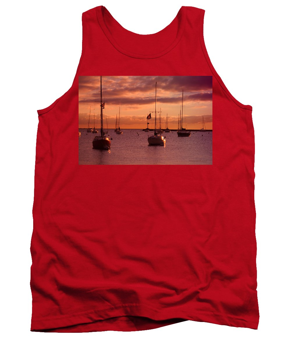 Sunrise Tank Top featuring the photograph Morning Waves by Miguel Winterpacht