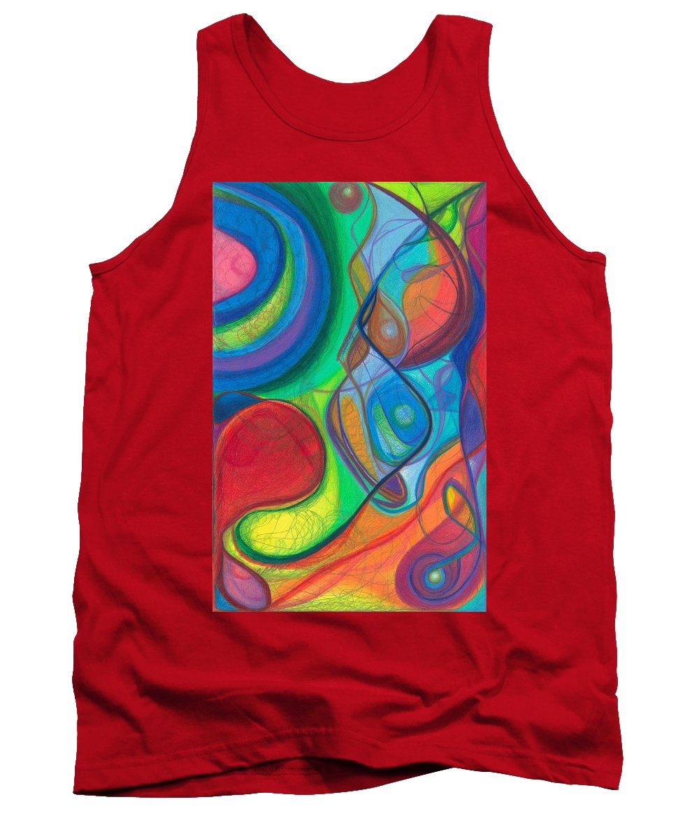 Plants Tank Top featuring the drawing Mother Earth - Plant Healing - Gaia - Heart Chamber Awakening by Daina White