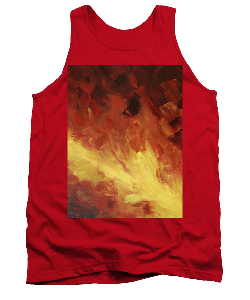 Fire Tank Top featuring the painting Muse In The Fire 2 by Sharon Cummings