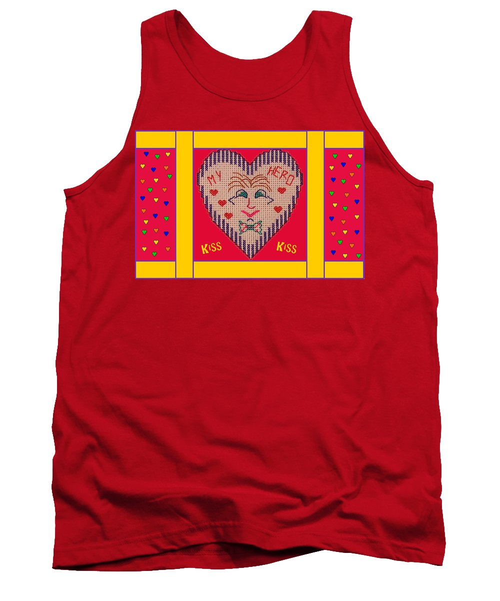 Computer Graphics Tank Top featuring the photograph My Hero 2 by Marian Bell