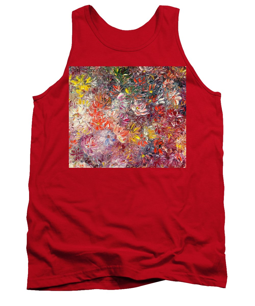 Abstract Tank Top featuring the painting My Pretty Pallet by Karin Dawn Kelshall- Best