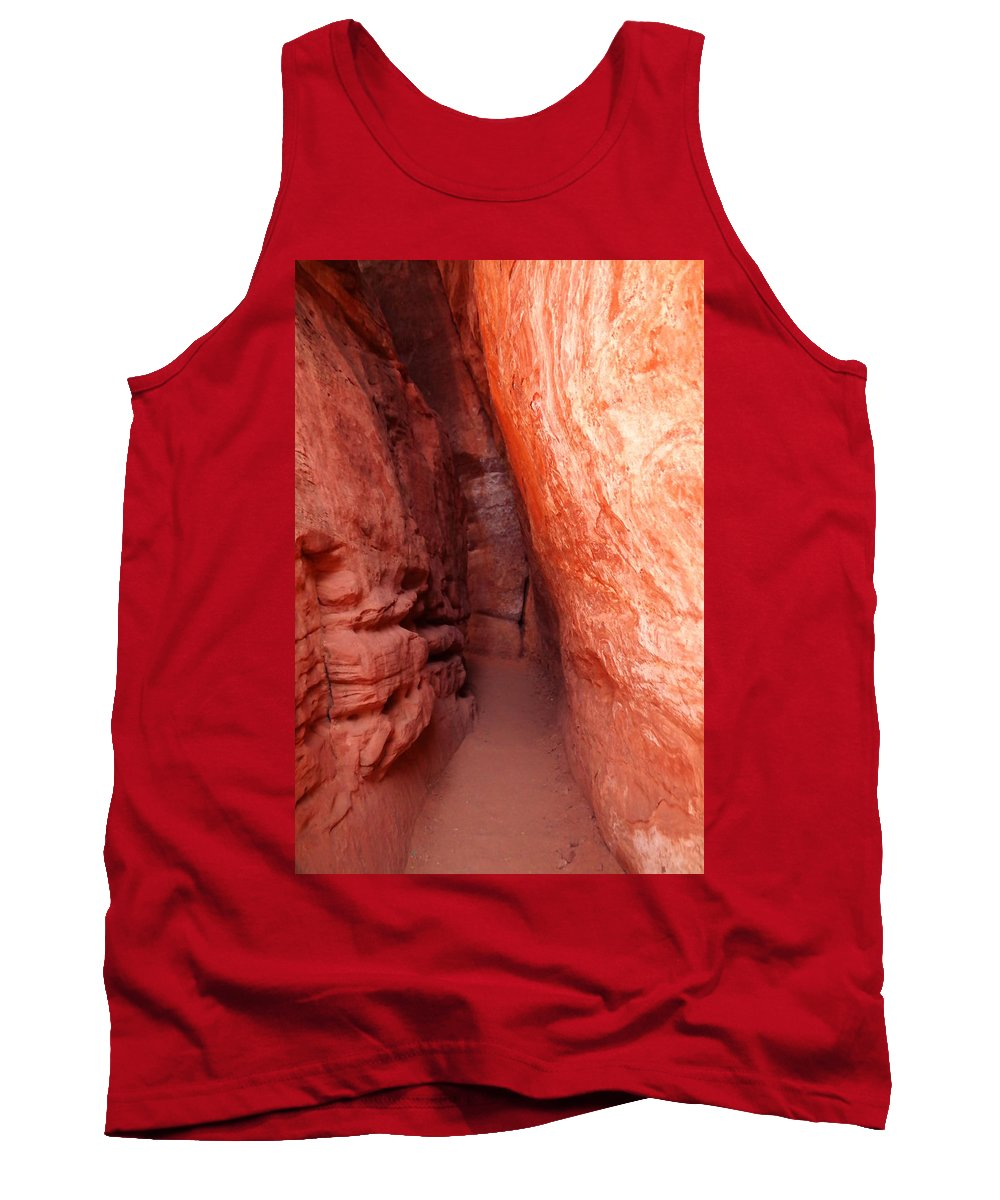 Canyons Tank Top featuring the photograph Mysterious Entrance by Jeff Swan