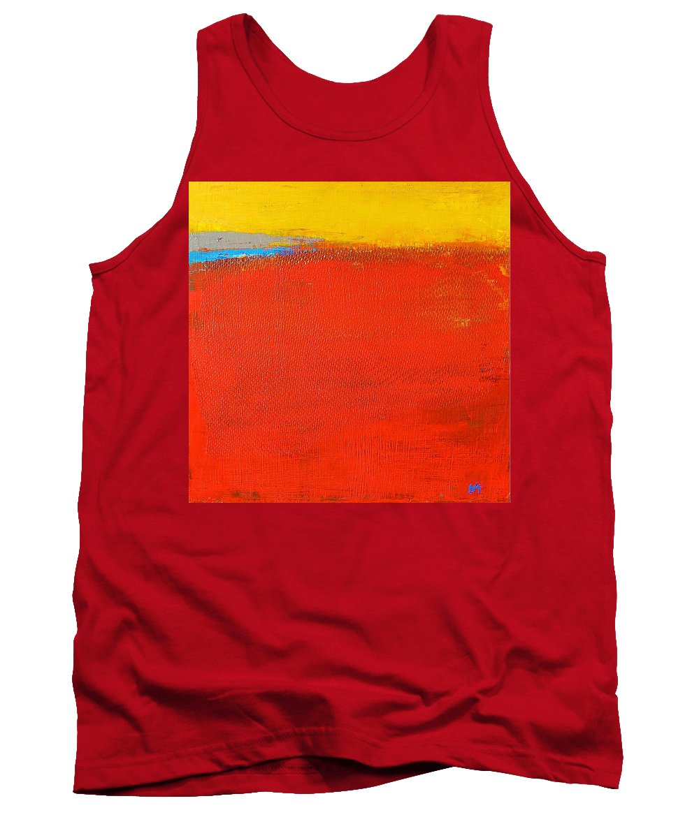 Landscape Tank Top featuring the painting Nature Rouge by Habib Ayat