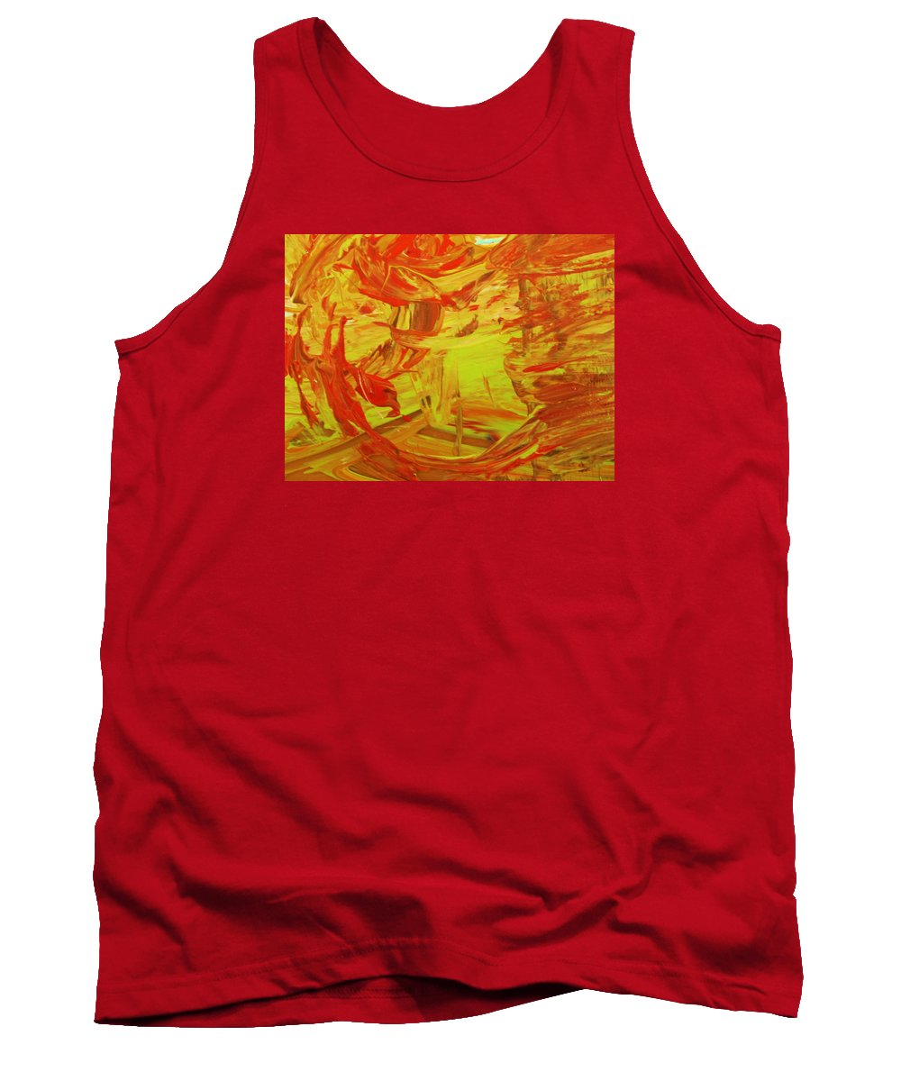 Original Tank Top featuring the painting Never Mind by Artist Ai