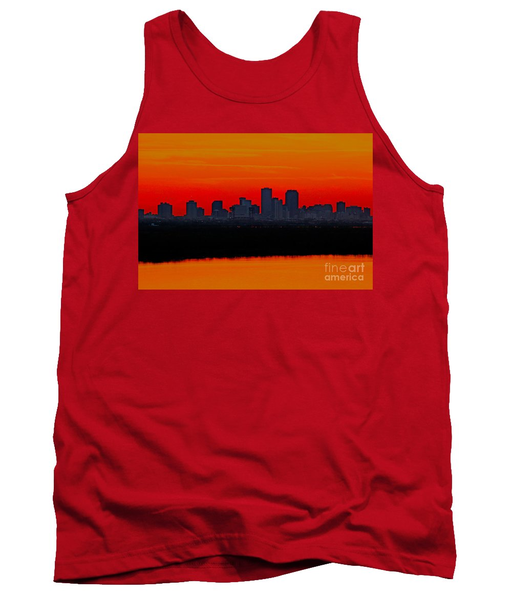 New Orleans Sunset Tank Top featuring the photograph New Orleans City Sunset by Luana K Perez