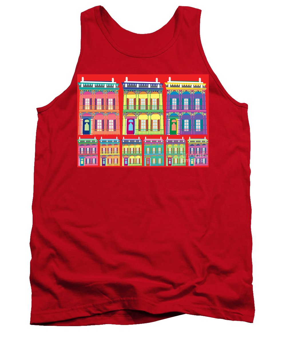 Houses Tank Top featuring the painting New Orleans Houses by Neil Finnemore
