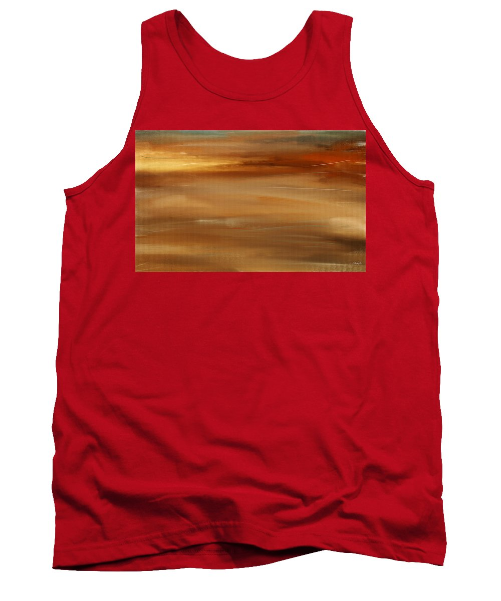 Seascapes Abstract Tank Top featuring the digital art New Radiance by Lourry Legarde