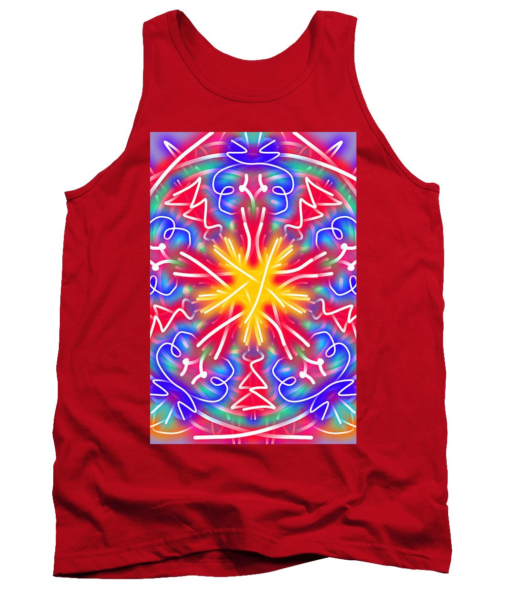 Kaleidoscope Tank Top featuring the digital art New Toy 1 by Bruce Nutting