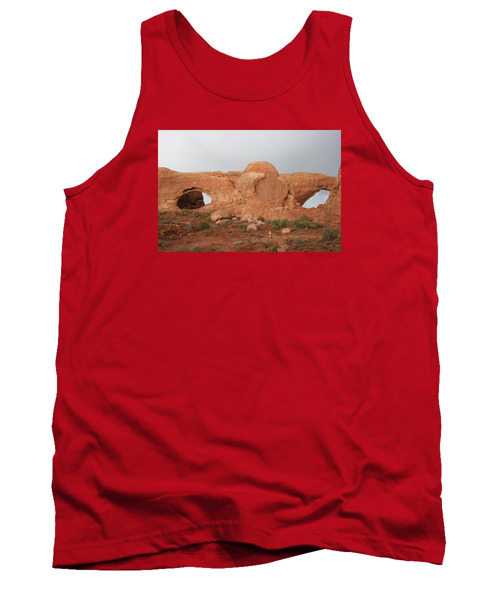 Window Tank Top featuring the photograph North And South Window Arches Np by Christiane Schulze Art And Photography