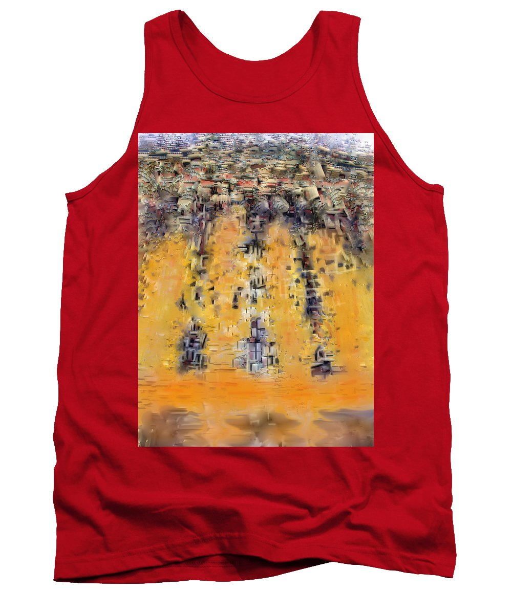 Philadelphia Tank Top featuring the digital art Not Philadelphia by Ian MacDonald