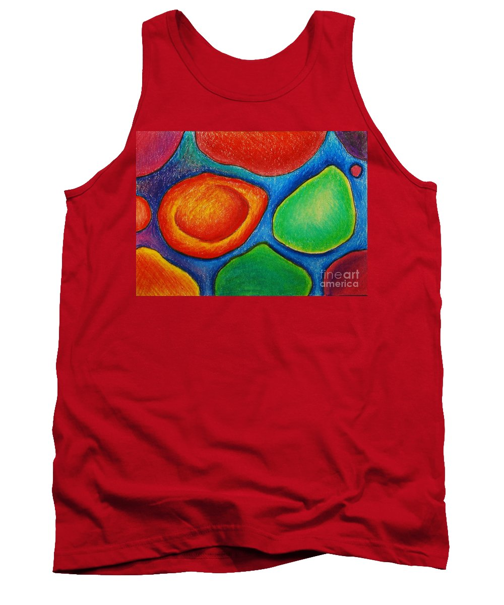 Colored Pencil Tank Top featuring the drawing Number 13 by Nancy Mueller