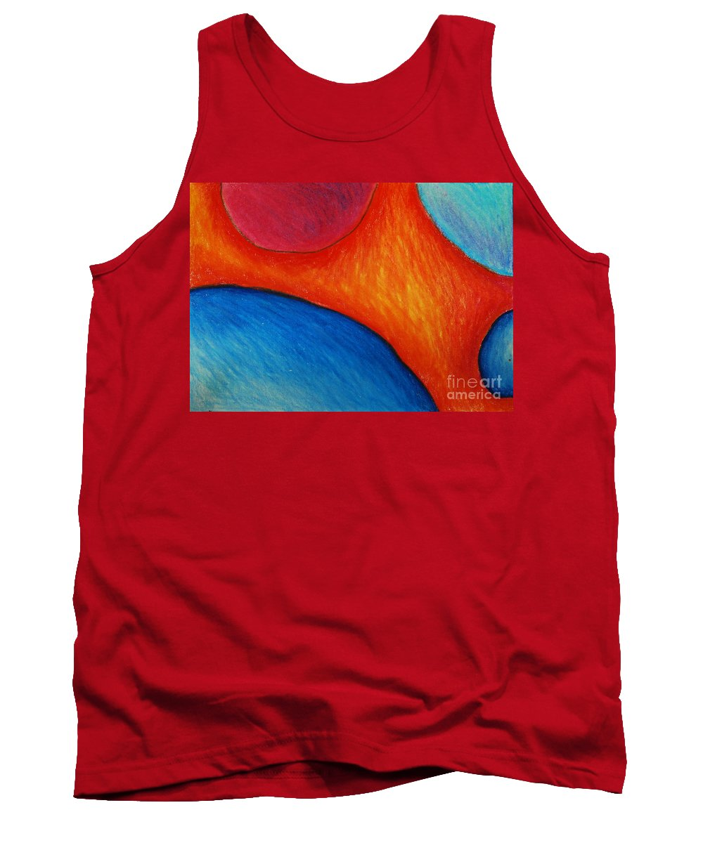Colored Pencil Tank Top featuring the drawing Number 16 by Nancy Mueller
