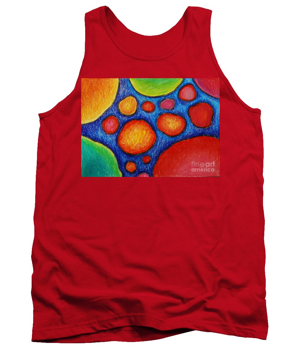 Colored Pencil Tank Top featuring the drawing Number 18 by Nancy Mueller