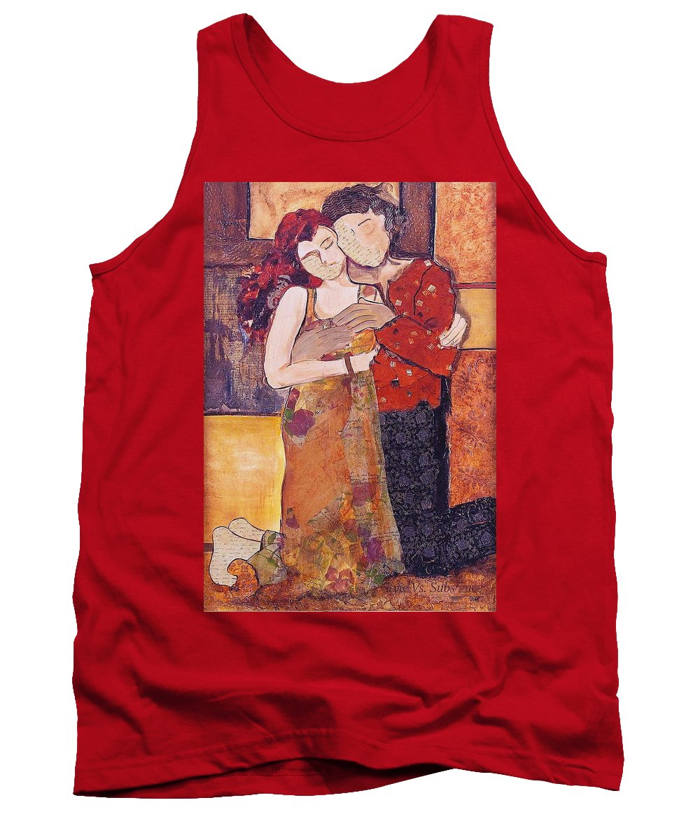 Man Tank Top featuring the painting Ode To Klimt by Debi Starr