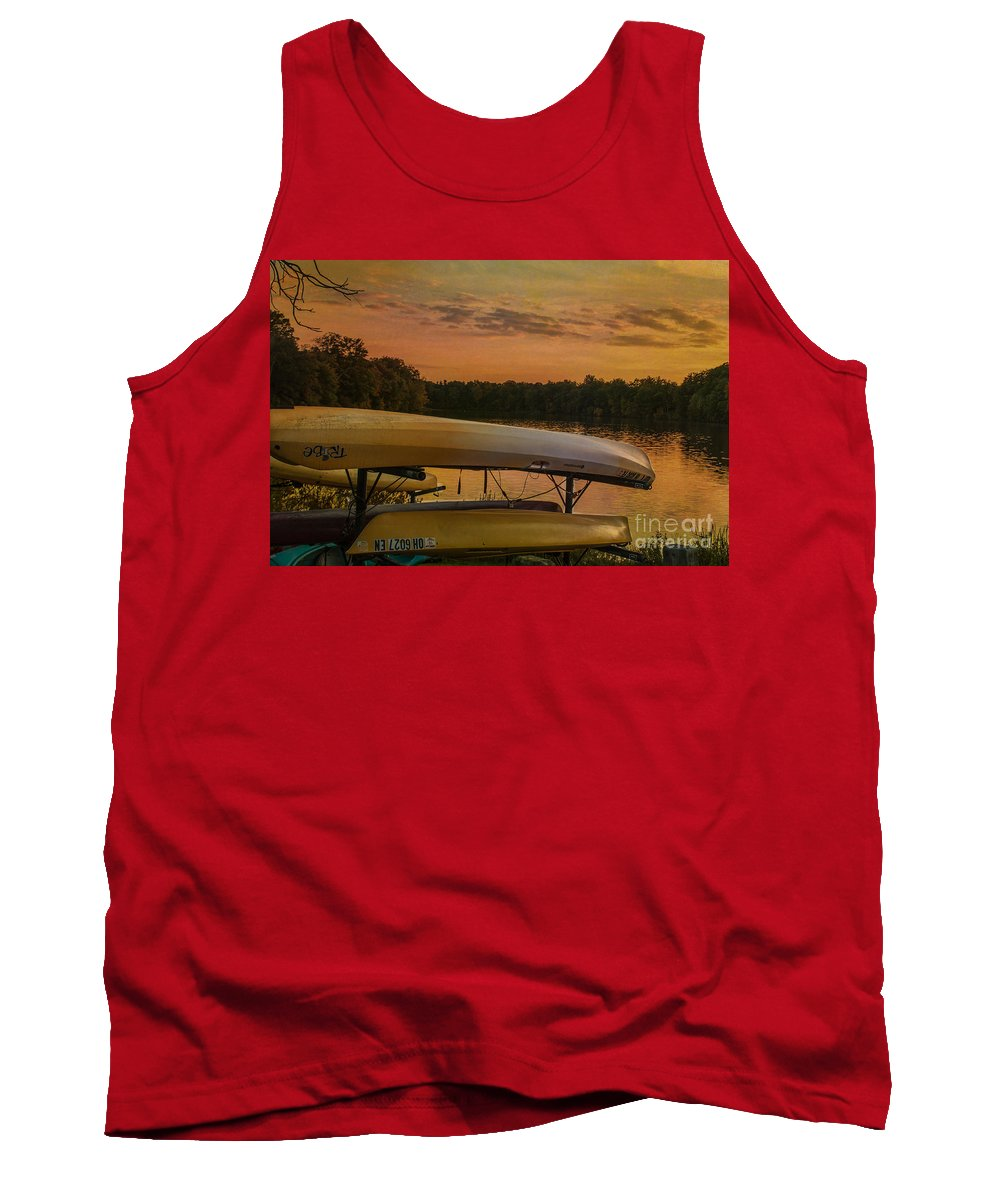 Evening Tank Top featuring the photograph Ohio Autumn In Orange by Janice Pariza