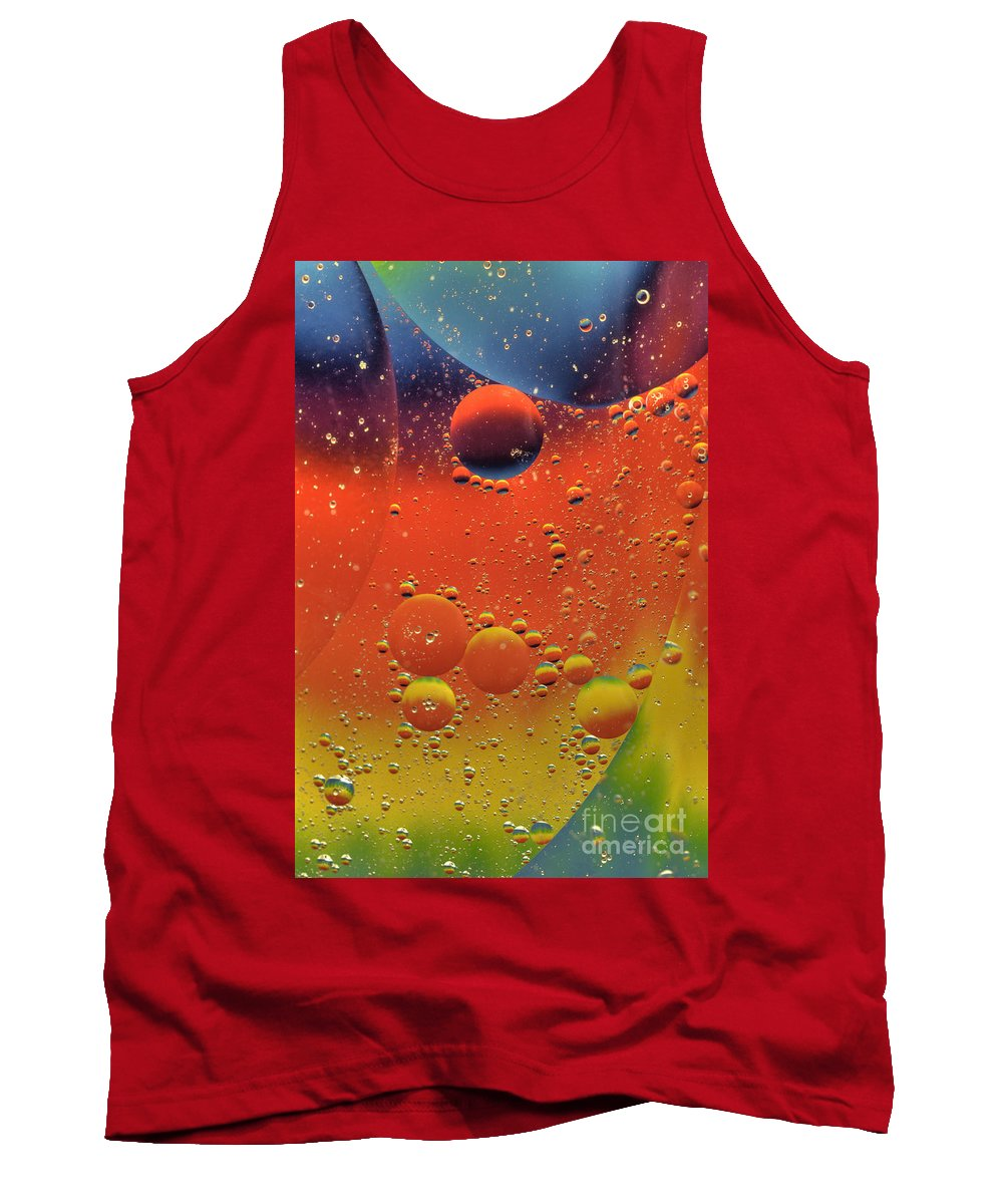 Abstract Tank Top featuring the photograph Oil And Water by Anthony Sacco