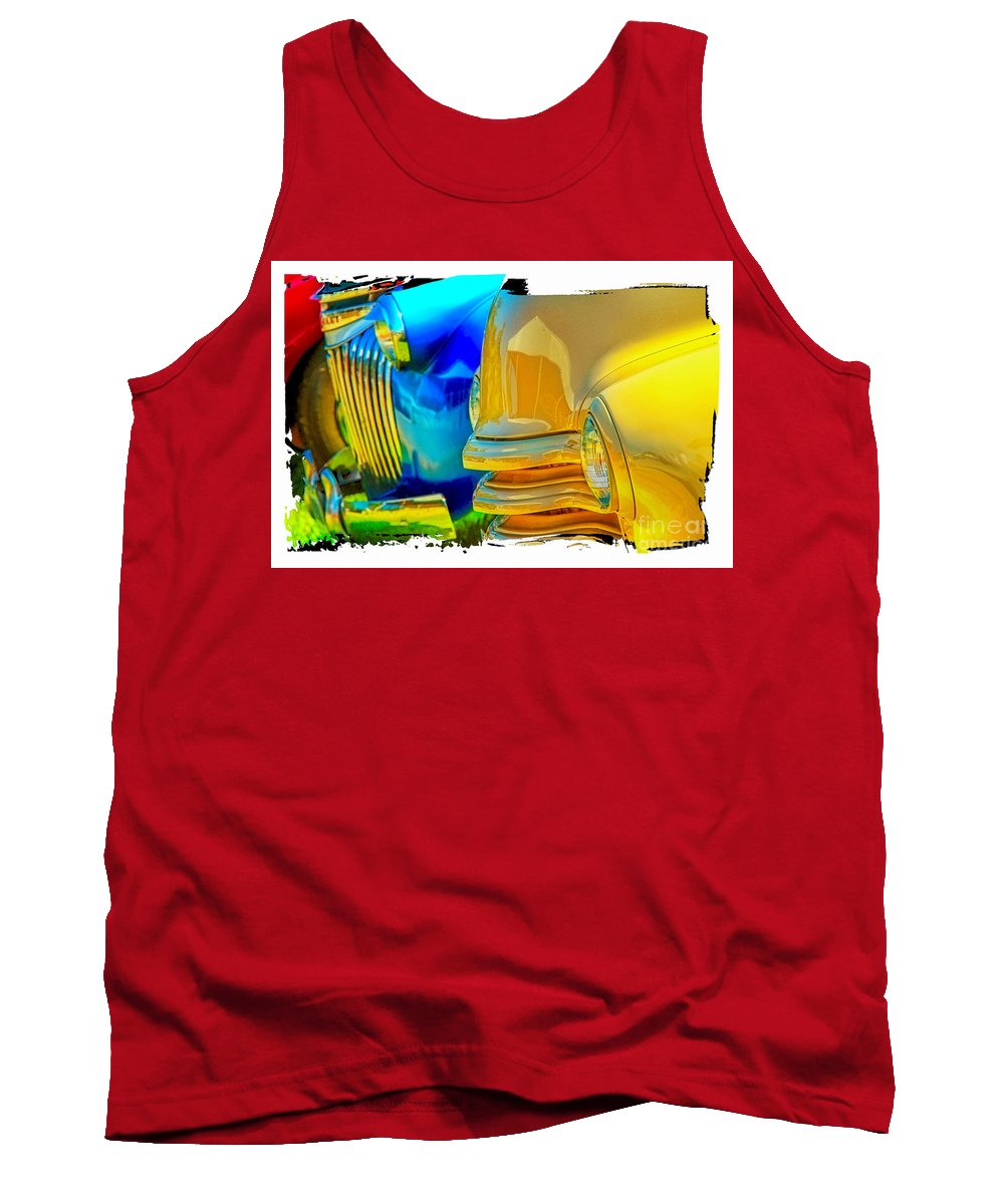 Vintage Old Cars Tank Top featuring the photograph Old Cars by Warrena J Barnerd