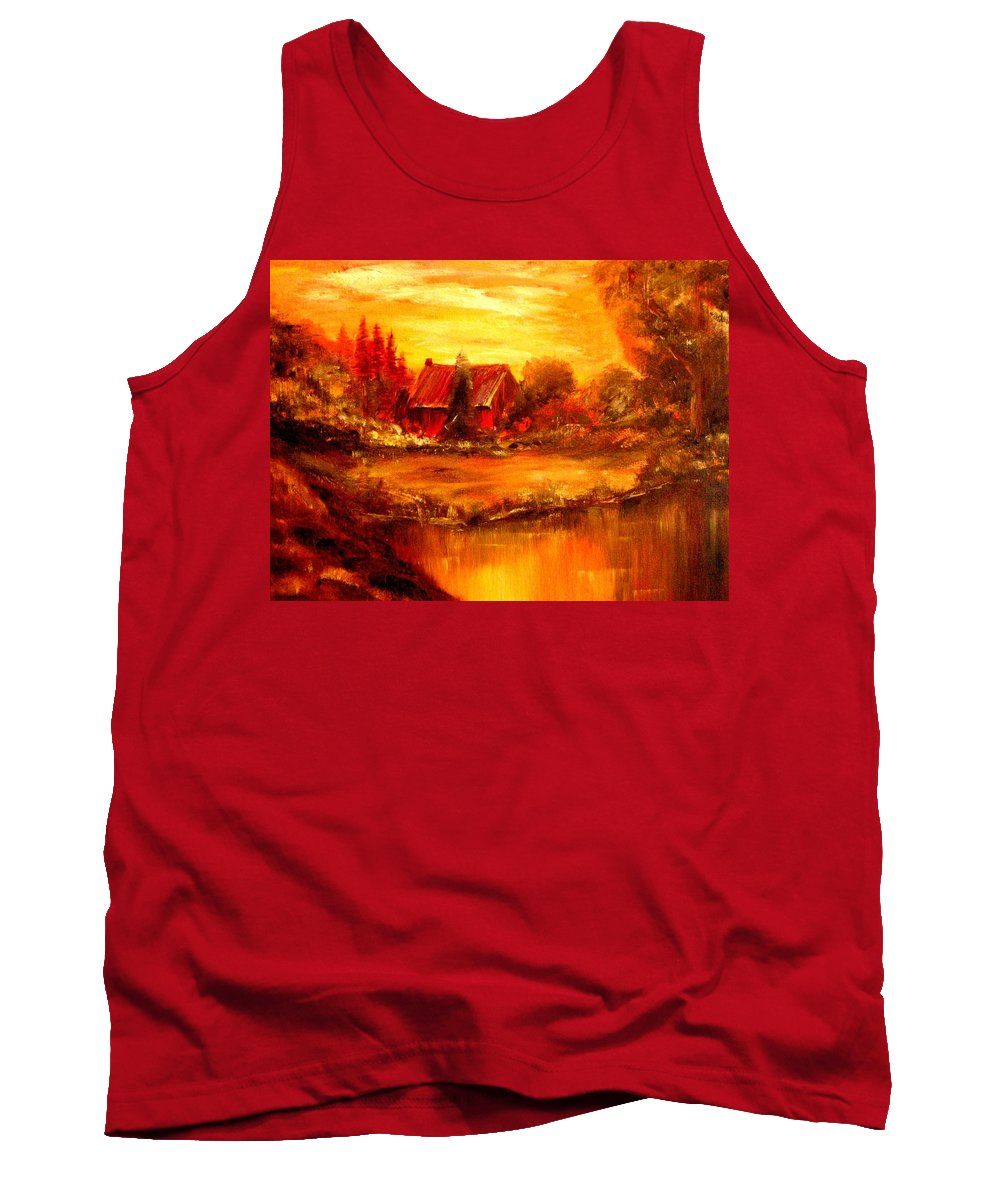 Barn Tank Top featuring the painting Old Dutch Farm by Jeff Troeltzsch