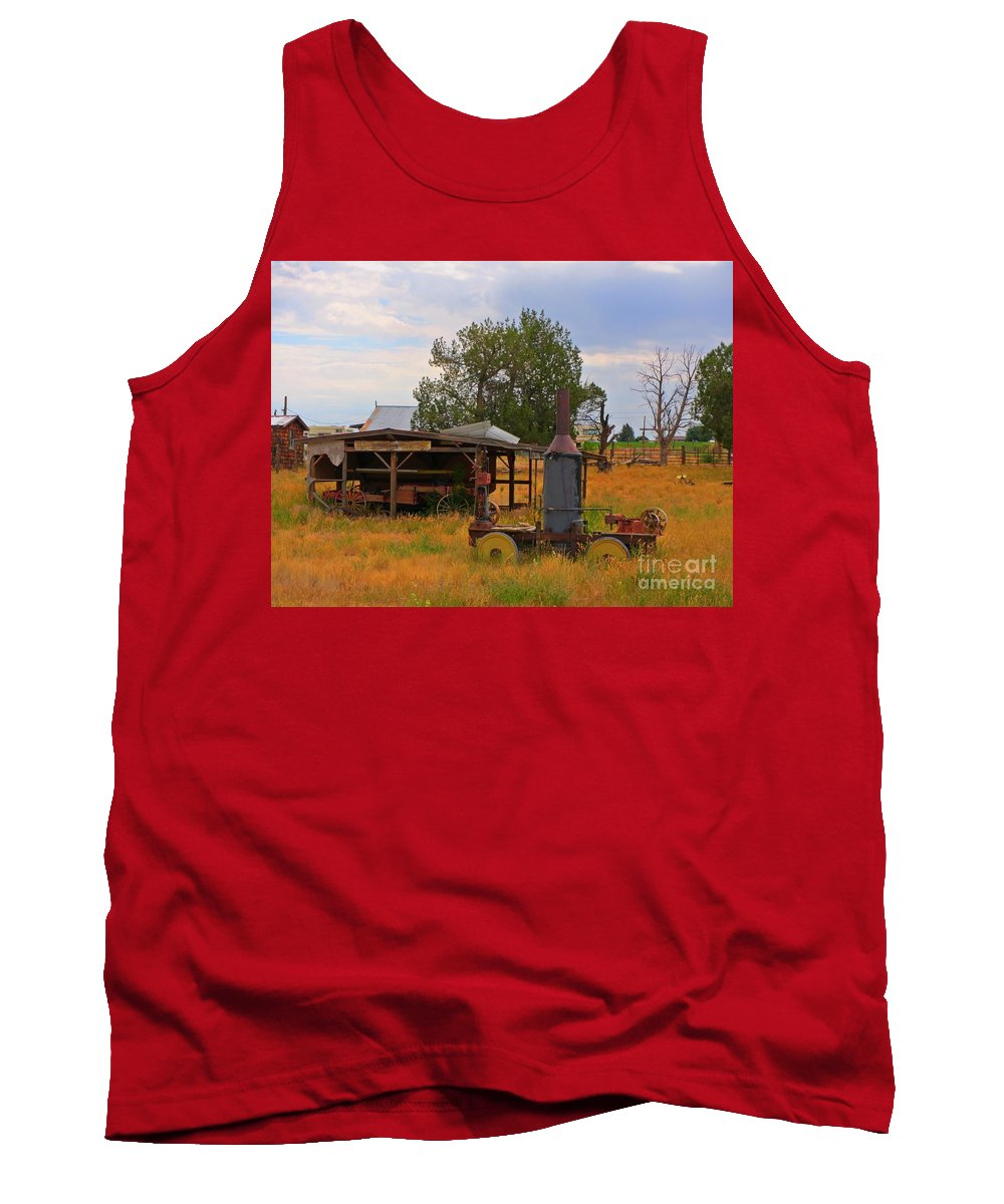 Old Farm Equipment Tank Top featuring the photograph Old Farm Equipment by John Malone