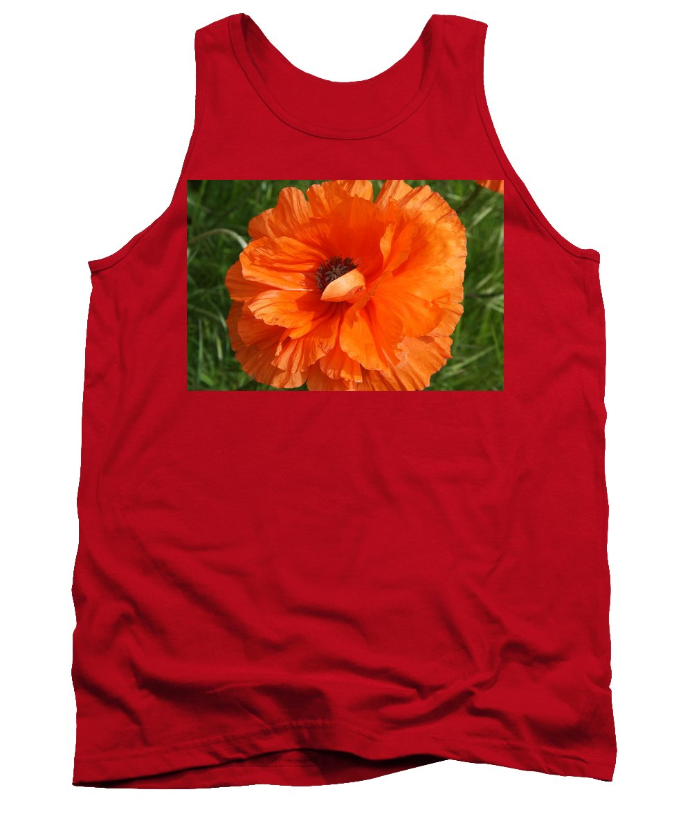 Poppy Tank Top featuring the photograph Olympia Orange Poppy by Christiane Schulze Art And Photography