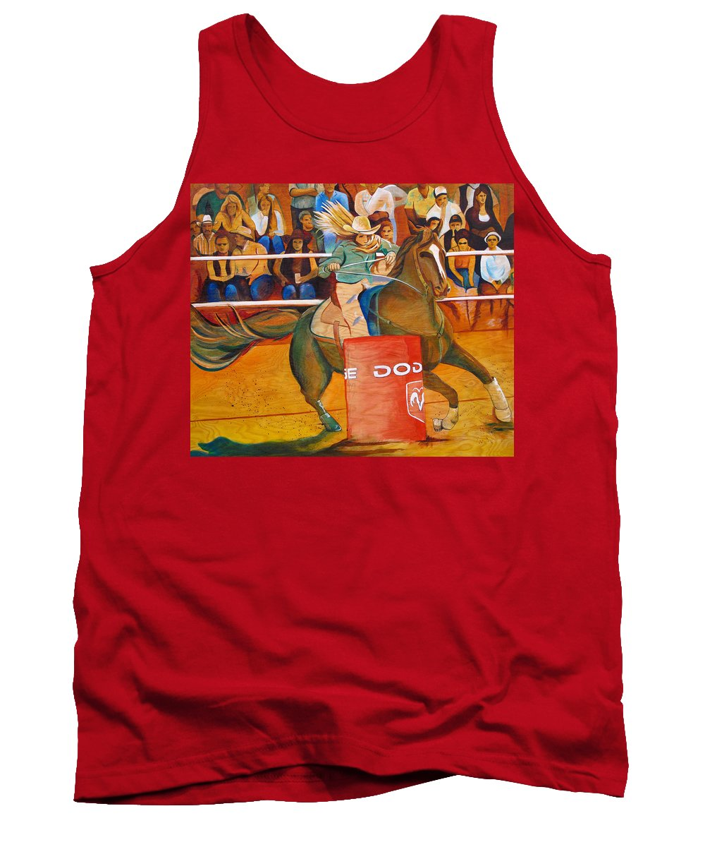 Horse Tank Top featuring the painting On A Dime by Joshua Morton