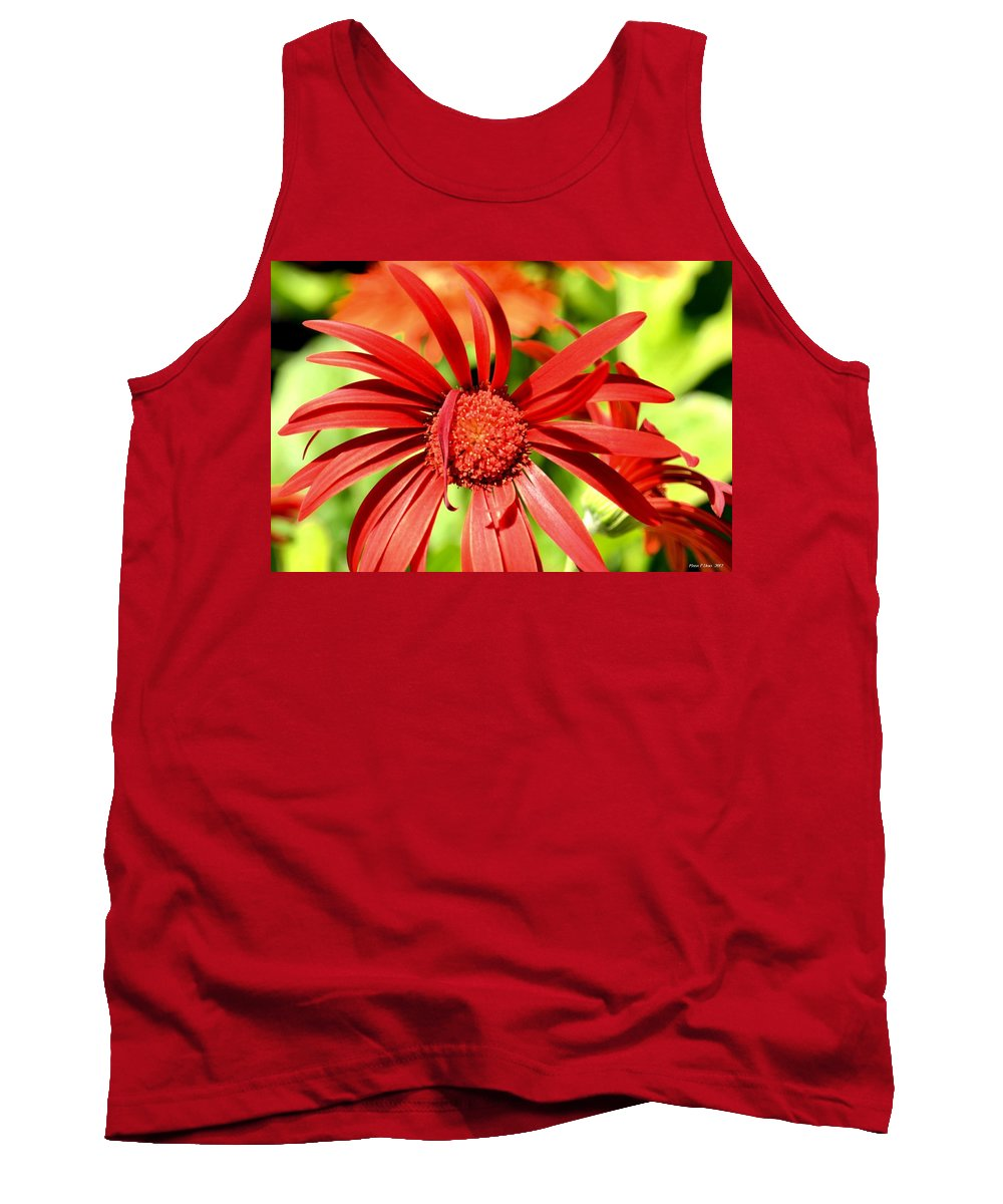 One Lazy Petal Tank Top featuring the photograph One Lazy Petal by Maria Urso
