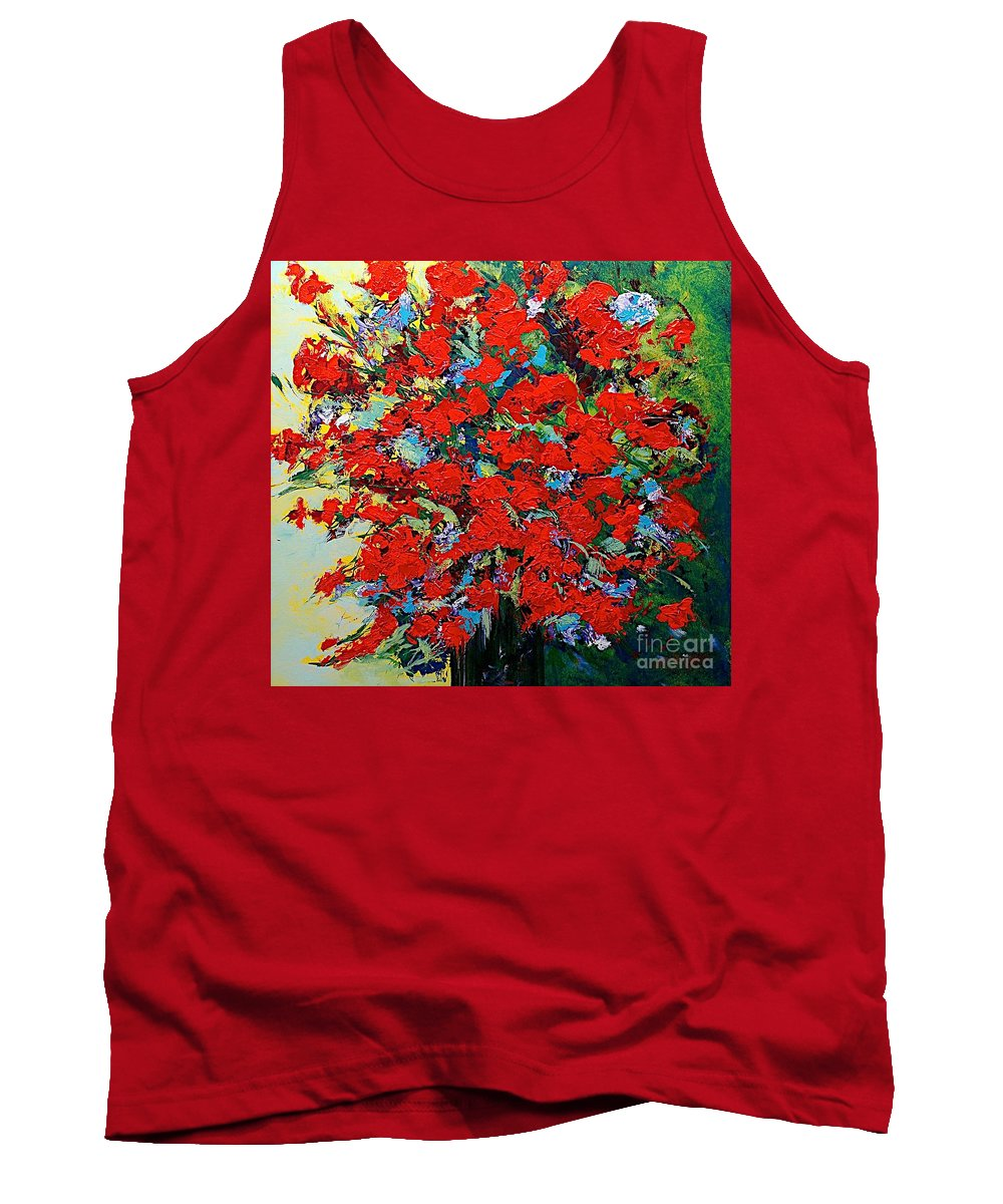 Landscape Tank Top featuring the painting One Of A Kind by Allan P Friedlander