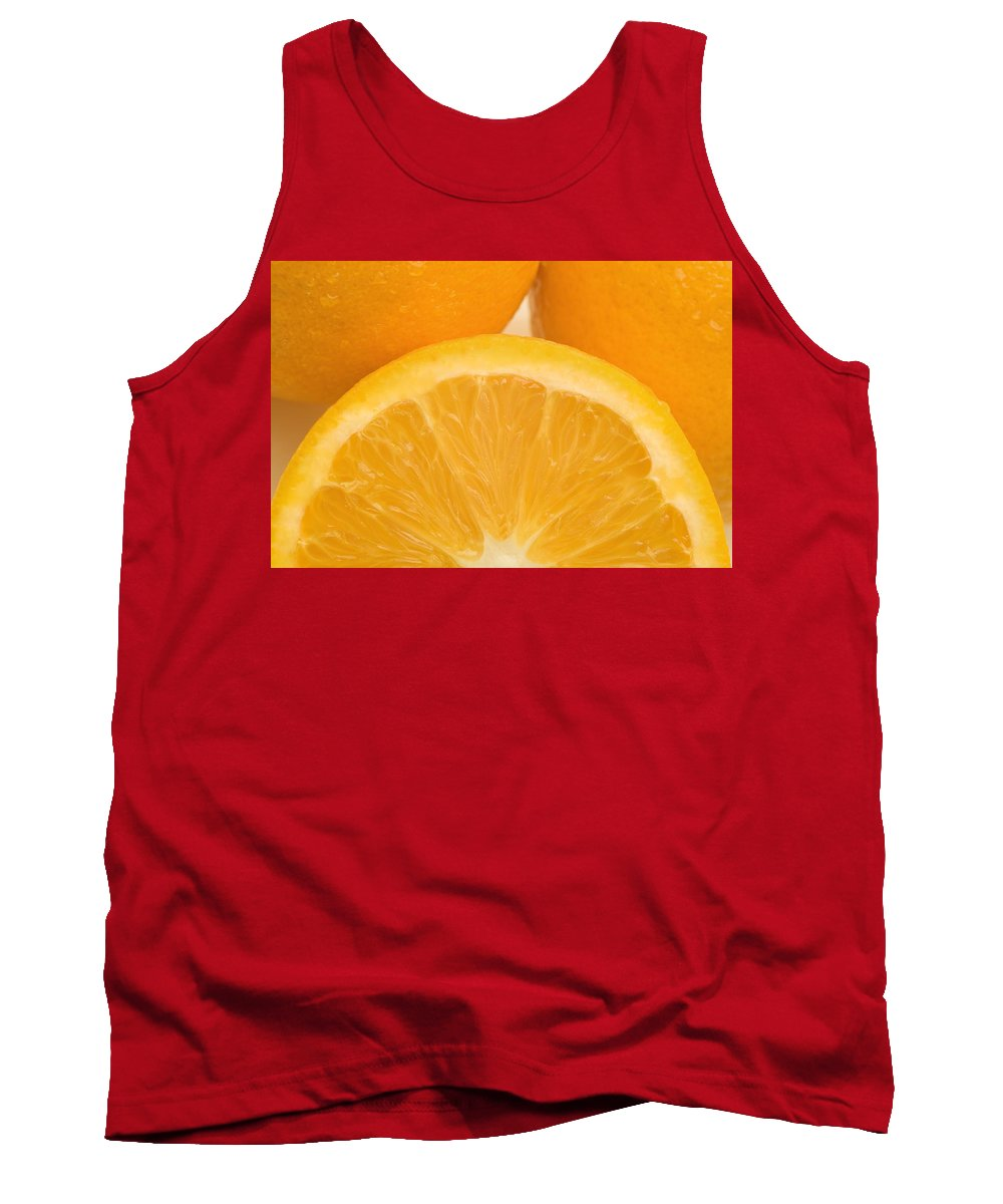 Close Tank Top featuring the photograph Oranges by Darren Greenwood
