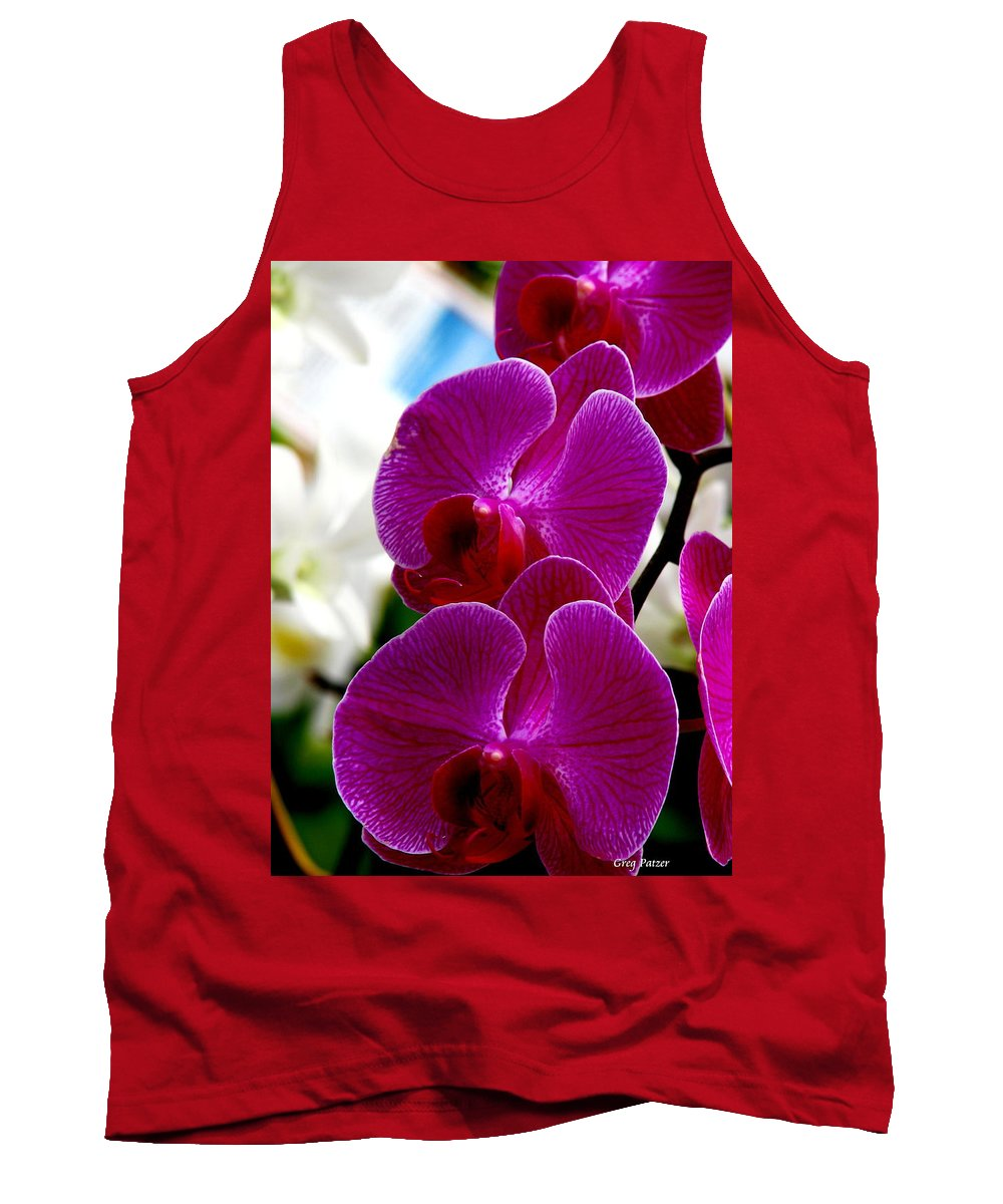 Art For The Wall...patzer Photography Tank Top featuring the photograph Orchid by Greg Patzer